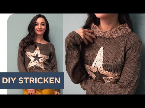 Pullover Upcycling: DIY Rollkragen stricken  ~ refashion | OTTO