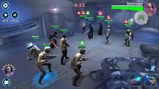 Star Wars™: Galaxy of Heroes - finn zeta lead poe,restroop,zylo,r2d2 arena vs rex nil