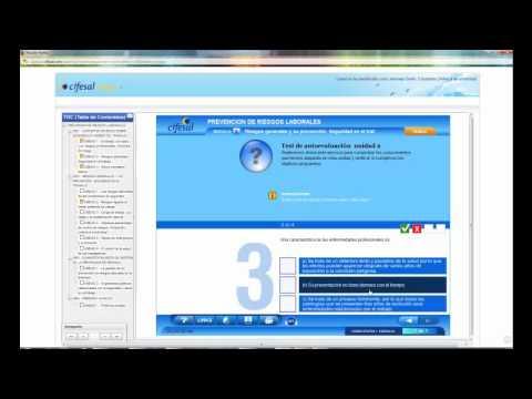Curso básico de Prevención de Riesgos Laborales (demo aula virtual)