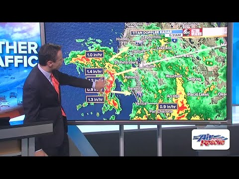 Low pressure west of Tampa is now Tripical Depression Six