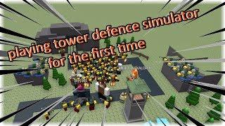 ROBLOX 🛡TOWER DEFENCE SIMULATOR🛡: WINNING my THIRD GAME