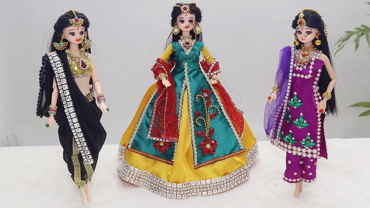 3 Doll decoration ideas with Clothes | Doll decoration ideas | #4