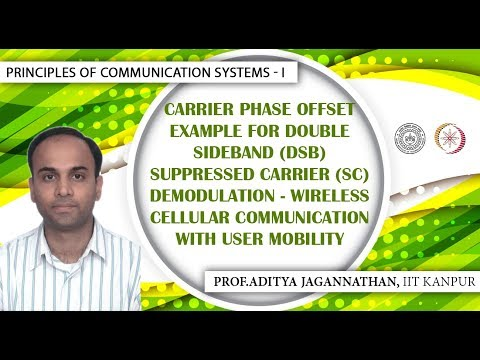 Lec 16  Principles of Communication Systems-I  Carrier Phase Offset for (DSBSC)   IIT KANPUR