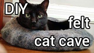 Diy Felt Cat Cave