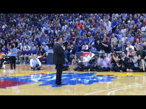 Bill Self - Senior Night 2017 (Tyler Self intro)