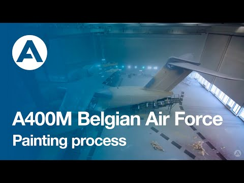 A400M Belgian Air Force Painting Process