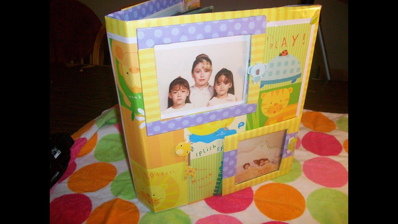 Manualidad reciclaje forro y decoracion de album o - Decorar con fotos familiares ...
