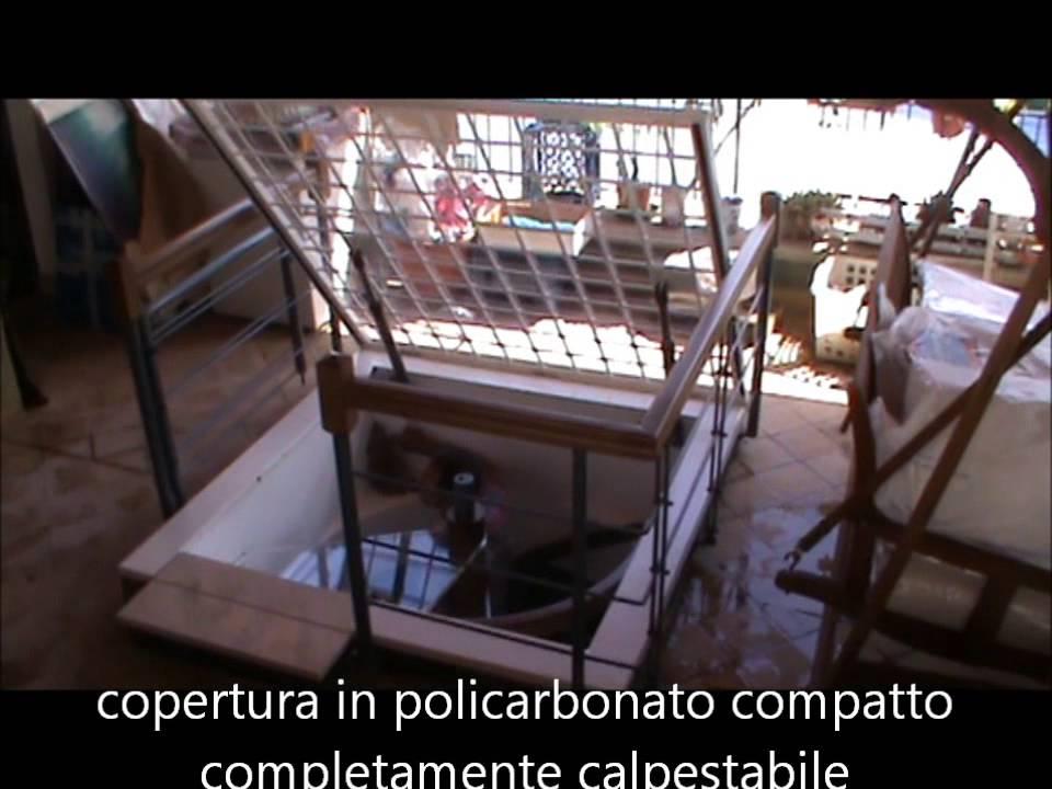 LUCERNARIO ELETTRICO IN POLICARBONATO SU MISURA - YouTube