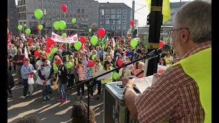 Warnstreik in Kassel: Tausende protestieren, Innenstadt dicht - Verdi, KVG