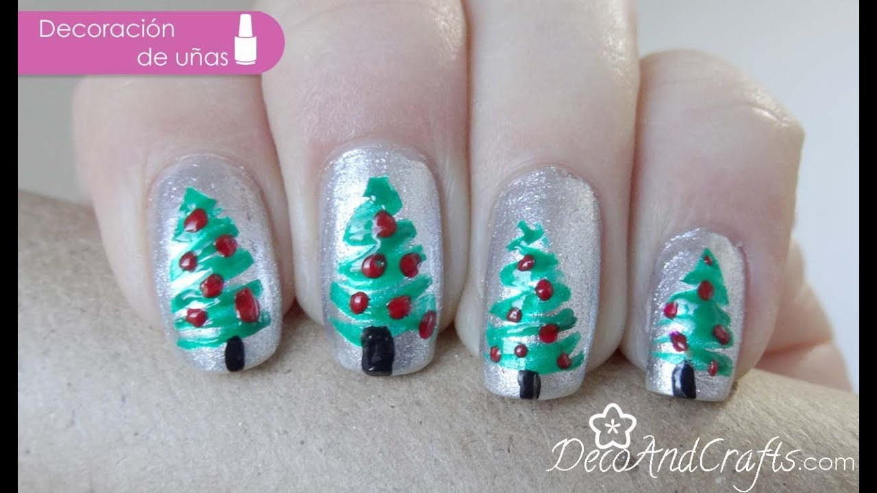 decoracion de uas para navidad