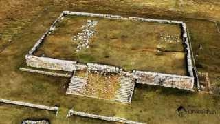 Visualización modelo fotogramétrico 3D, Sitio Arqueológico Huánuco Pampa