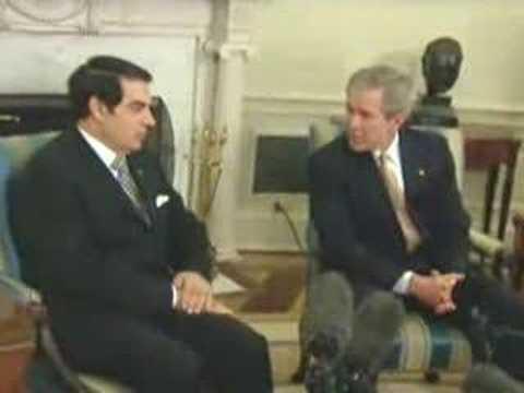 Humiliation de Ben Ali par Bush
