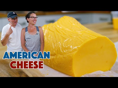 WOW! CRAZY! Home Made Processed American Cheese Recipe - Glen And Friends Cooking