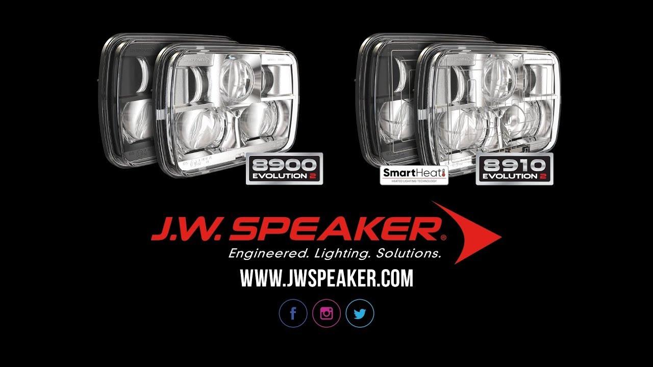jw speaker 8900 evolution 2 dual beam 5 x 7 black headlight headlight revolution [ 1280 x 720 Pixel ]