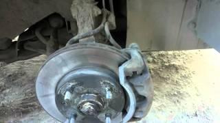 замена передних тормозных колодок chevrolet lacetti