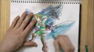 How to Draw Link and the Skyward Sword (The Legend of Zelda: Skyward Sword)