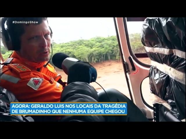 Geraldo Luís sobrevoa Brumadinho e mostra imagens exclusivas da tragédia