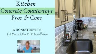 Kitchen Concrete Countertops Pros And