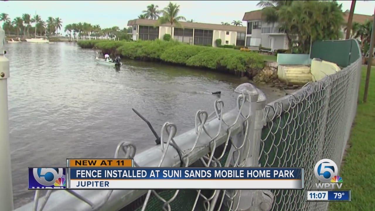 Fence Installed At Suni Sands Mobile Home Park Youtube