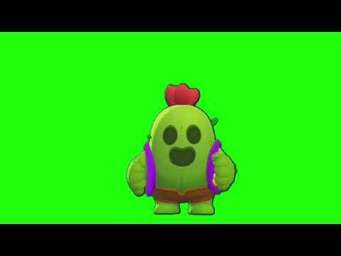 Spike - Green Screen (Brawl Stars)