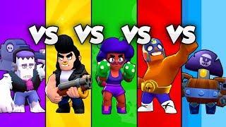 🏆Bester TANK? | ROSA vs BULL vs FRANK vs EL PRIMO vs DARRYL Battle | Brawl Stars deutsch