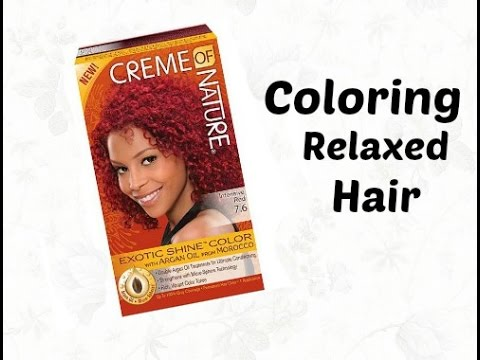 Coloring Short Relaxed Hair - YouTube