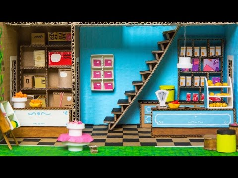 How to Make the Shop In the Cardboard House | DIY Houses on Box Yourself
