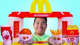 Mcdonalds Restaurant Fast Food Hamburger Toy Store Pretend Play Kids Toys