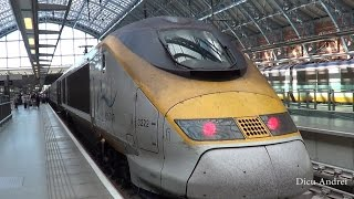 London St Pancras to Paris with beautiful  EUROSTAR train June 2014