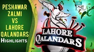 Match 5: Peshawar Zalmi vs Lahore Qalandars - Complete Highlights