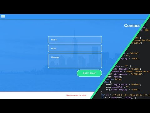 Web Design Speed Art + Speed Code - Contact Form (With Javascript Validation)