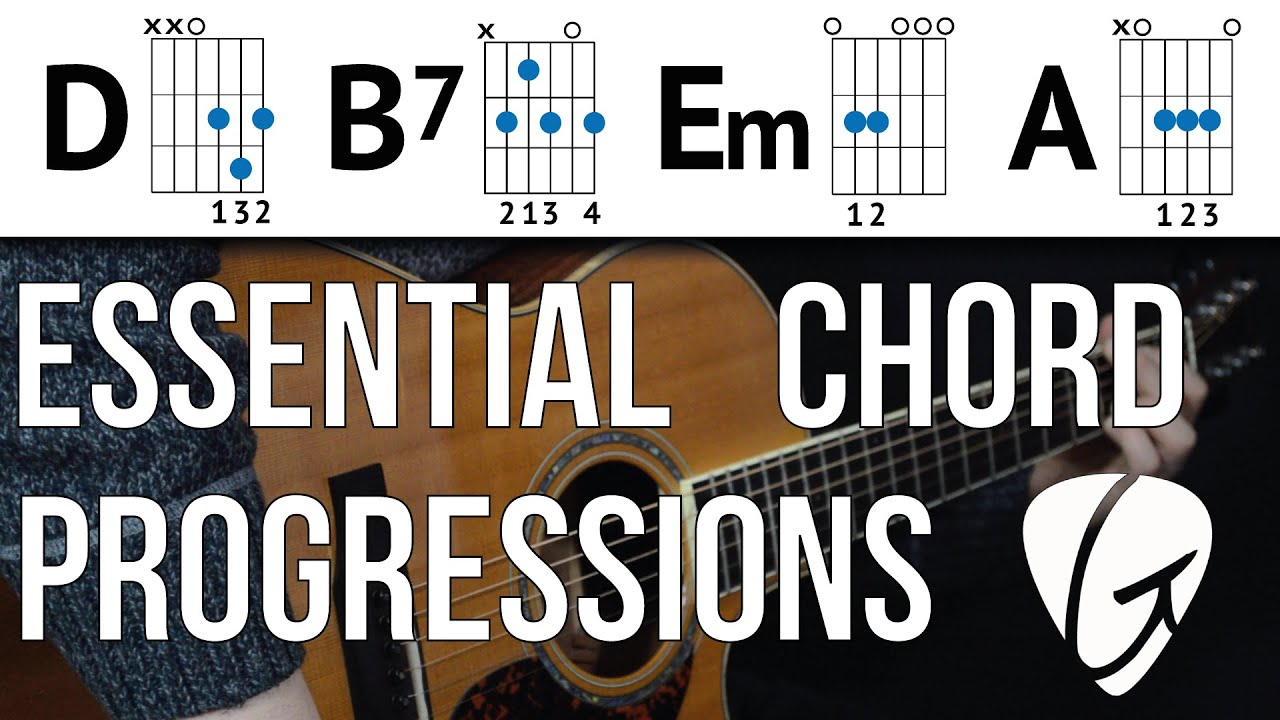 Chord Progression Practice D B7 Em A Swing And Jazz Style Easy