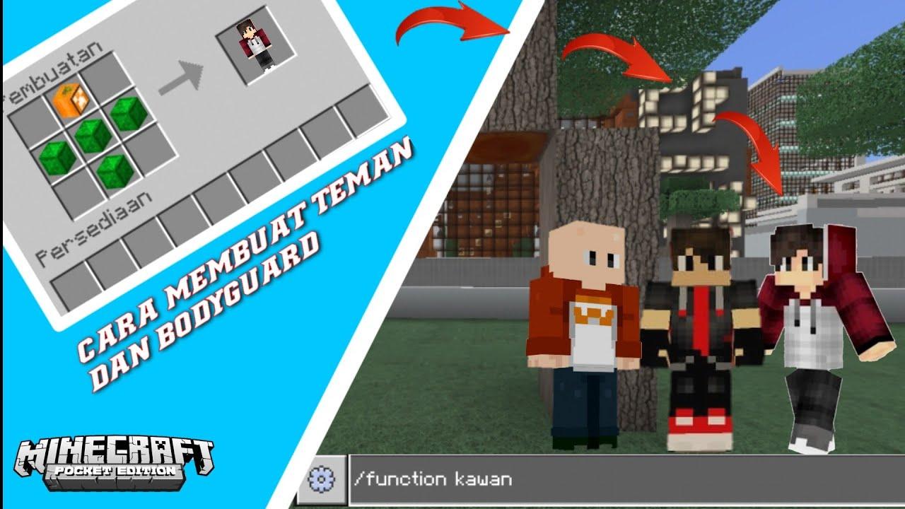 Cara Membuat Teman Atau Pelindung Di Minecraft Minecraft Pe Youtube
