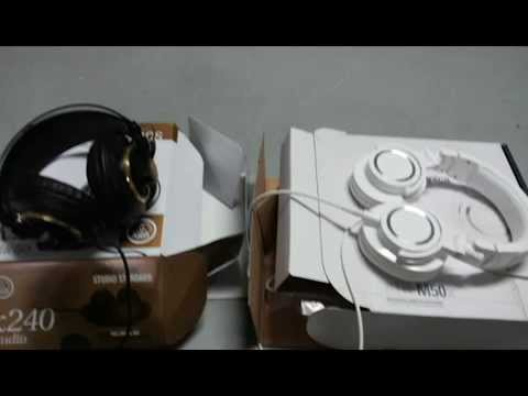 Audio-Technica ATH-M50x Vs AKG K 240 Semi-Open Studio Headphones