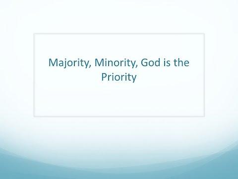 "11/06/16 East End Church of Christ: Sunday Sermon: ""Majority, Minority, God Is the Priority"""