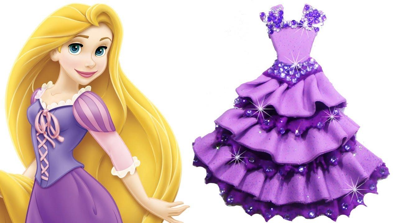 diy disney princess rapunzel dress play doh how to make disney