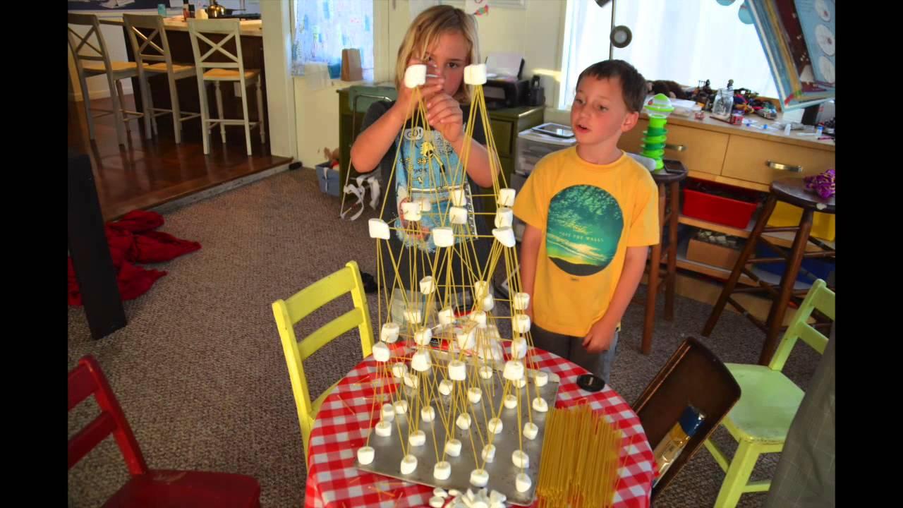 Spaghetti And Marshmallow Eiffel Tower Youtube