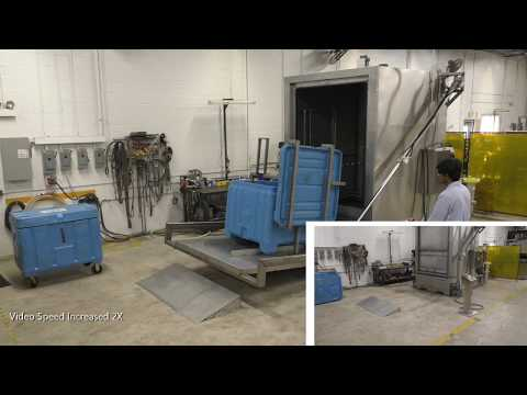 Large Bin Washer with Automatic Lift to Clean & Sanitize Totes/Bins