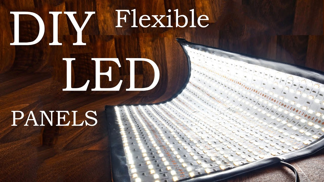 How To Make Flexible Led Panels Diy Flex Lights Youtube
