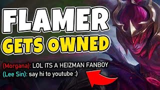 fLAMER CALLS ME A FANBOY THEN GETS DUMPSTERED BY MY LEE SIN - League of Legends