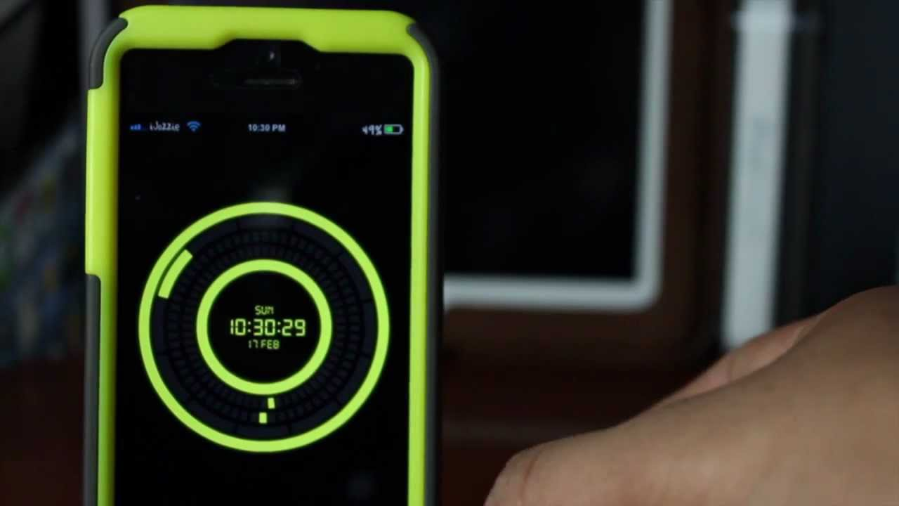 how to set clock on iphone lock screen