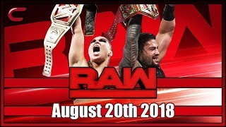 WWE RAW Live Stream August 20th 2018: Live Reaction Conman167 RAW After SummerSlam 2018