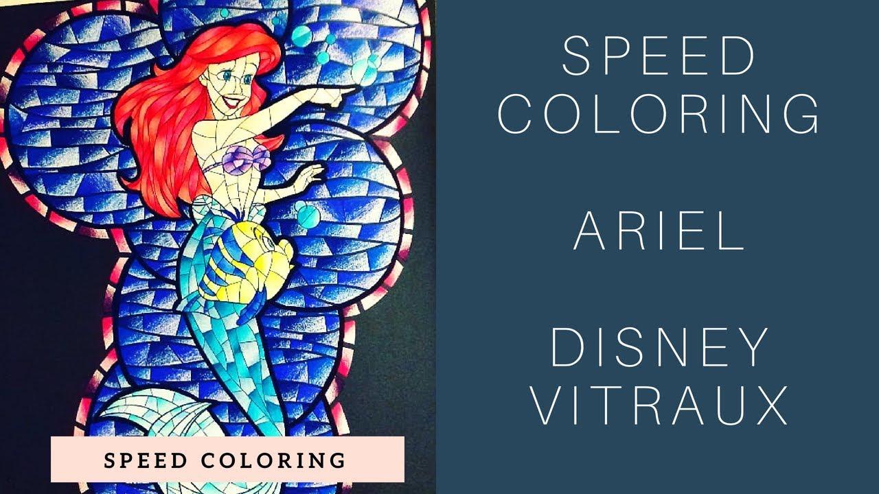 Disney Vitraux 19  Speed Coloring