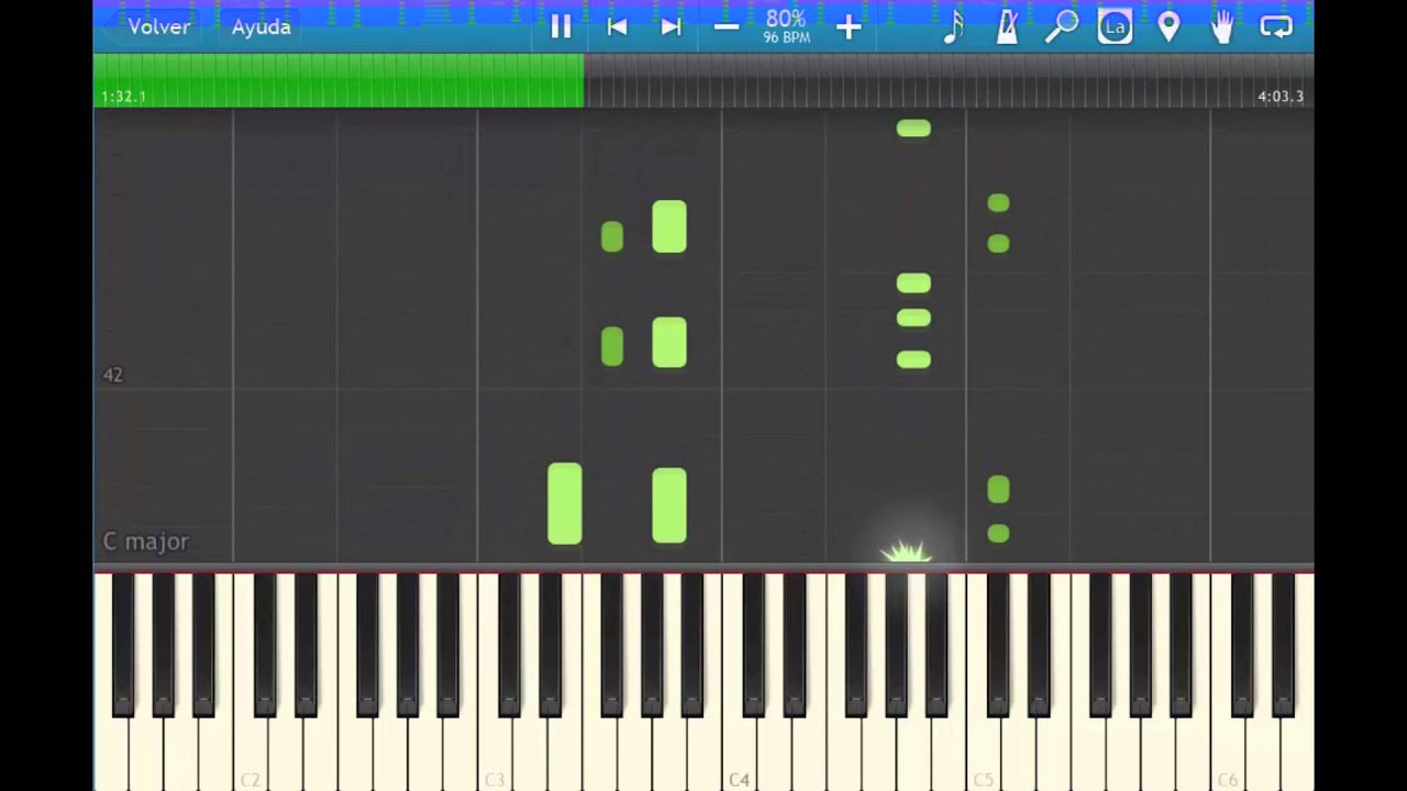 syntehsia how to make music sheet bigger