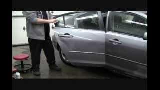 Débosselage sans peinture de dommages extrêmes sur Mazda