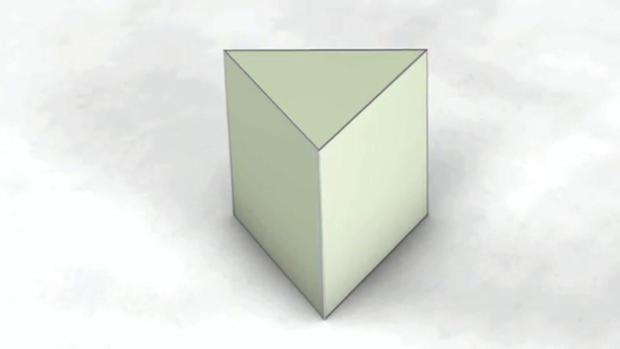 Net Of Solid Shapes Triangular Prism Trikutna Prizma Treugolnaya Prizma
