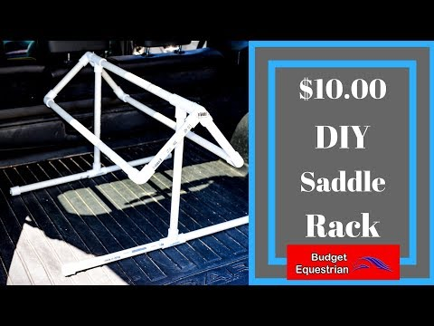 How To Make A PVC Saddle Stand For $10.00
