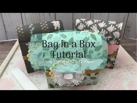 Bag in a Box Tutorial! | Makes Great Gifts! | Unique Gift Packaging