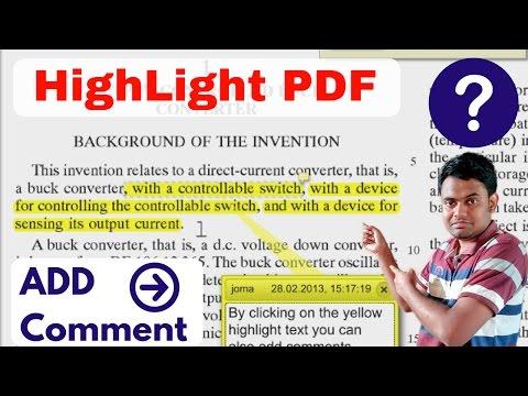 How to Highlight or Strike-through or Add Some Note in PDF Line | पीडीऍफ़ को हाईलाइट कैसे करे ?