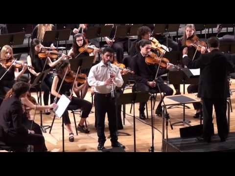 Mozart Clarinet Concerto Pedro Vitorino ESML Symphonic Orchestra Vasco Azevedo dir  2017